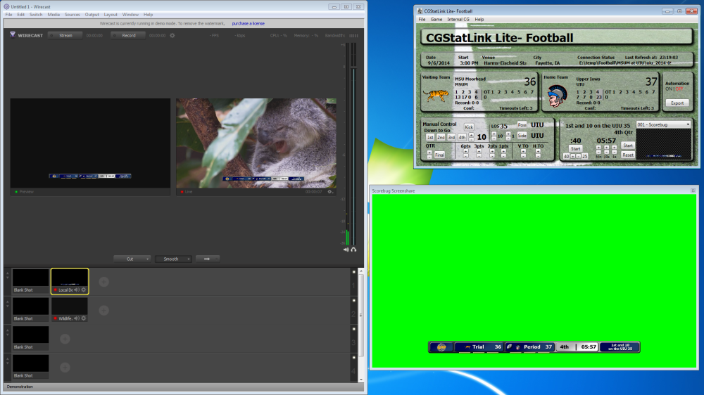 Wirecast Screen Share